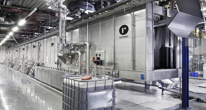 KLT - Pulverbeschichtung vollautomatische Anlage